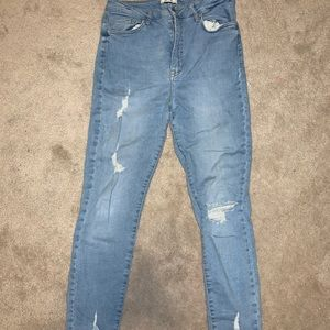 Forever 21 distressed Jeggings high waisted